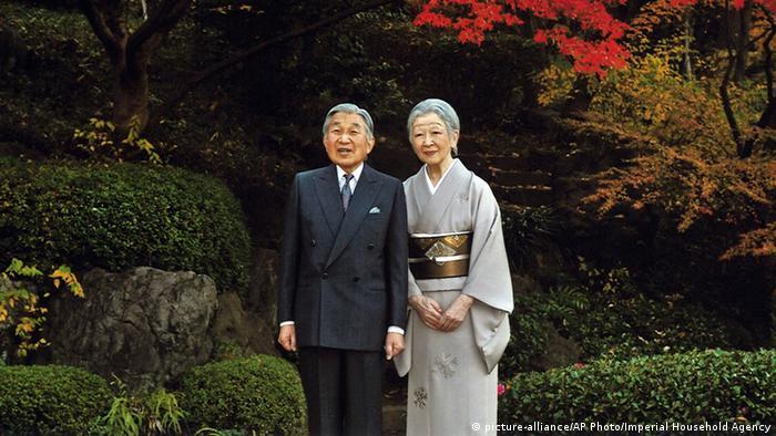 Imperador Akihito e a imperatriz Michiko