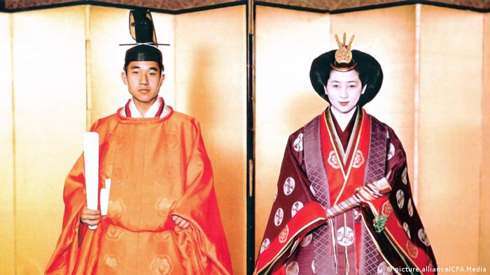 Japan's Emperor Akihito and Empress Michiko married in 1959. Akihito ascended to the throne after his father passed away in January 1989.