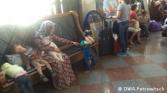 Мигранты на вокзале в Бресте