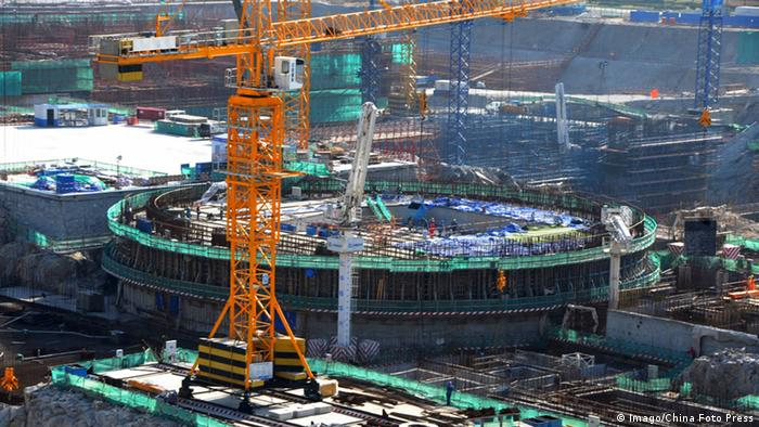 Construction of the Tianwan Nuclear Power Plant in 2013