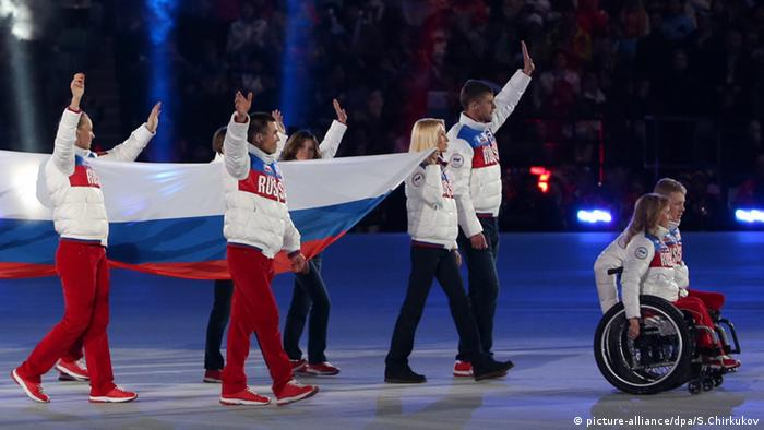 Российские паралимпийцы в Сочи