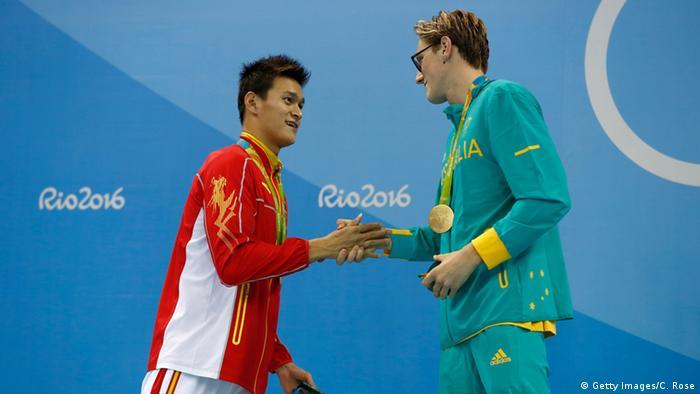 Brasilien - Olympia - Schwimmer Yang Sun und Mack Horton