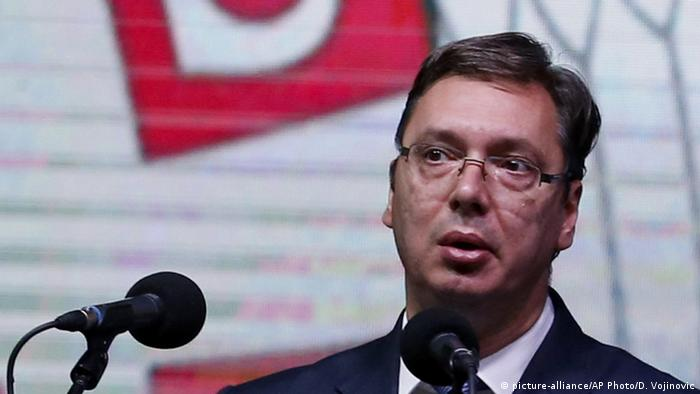 Serbien Premierminister Aleksandar Vucic (picture-alliance/AP Photo/D. Vojinovic)