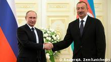 Wladimir Putin und Ilham Aliyev in Baku