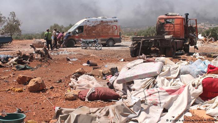 Aleppo destruída por bombardeios aéreos russos