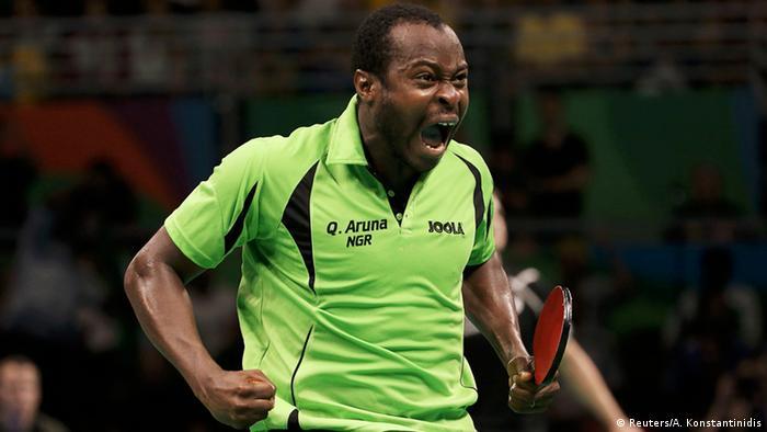 尼日利亚乒乓球健将夸德里·阿鲁纳( Quadri Aruna)