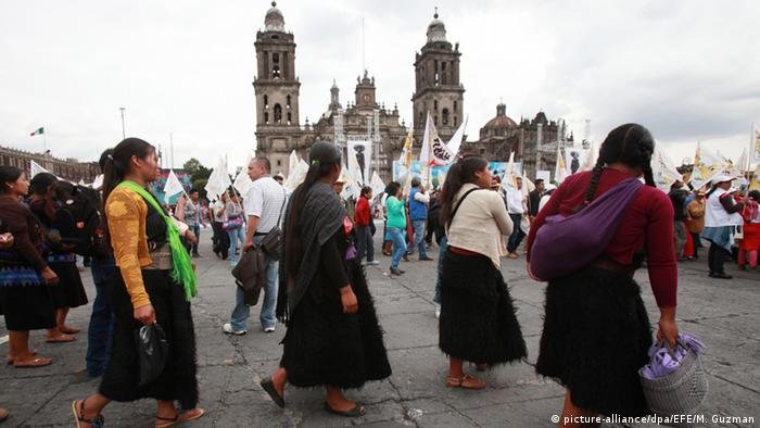 Mexiko Landwirte Proteste in Mexiko-Stadt