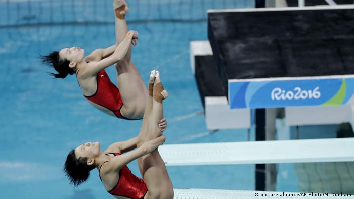 Brasilien Olympische Spiele in Rio - Shi Tingmao and Wu Minxia China Synchronspringen