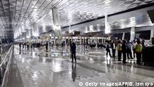 09.08.2016 TOPSHOT - This general view shows the check-in hall at the newly opened terminal 3 at Soekarno-Hatta International Airport in Tangerang, on the outskirts of Jakarta, early on August 9, 2016. The main airport serving the Indonesian capital Jakarta on August 9 opened a new terminal that will allow the overcrowded aviation hub to handle tens of millions more passengers a year. / AFP / BAY ISMOYO (Photo credit should read BAY ISMOYO/AFP/Getty Images) Getty Images/AFP/B. Ismoyo