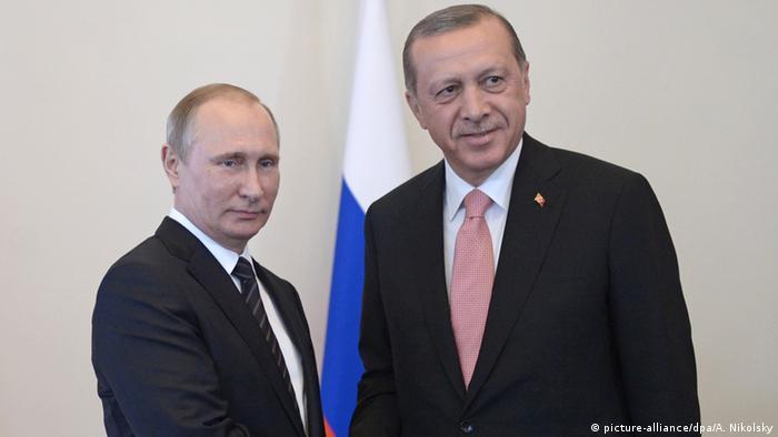 Владимир Путин и Реджеп Тайип Эрдоган в Санкт-Петербурге