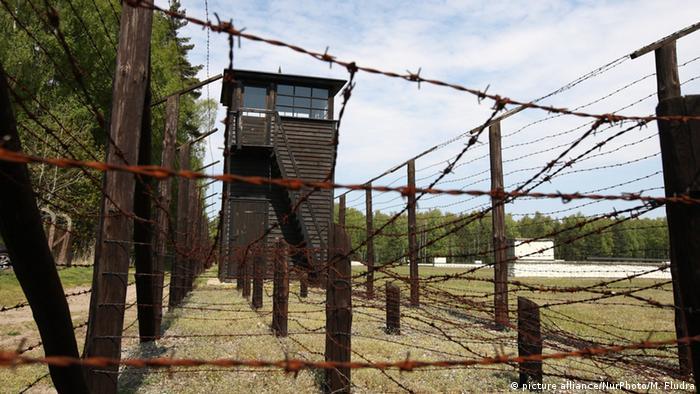 Torre de guarda no antigo campo de Stutthof