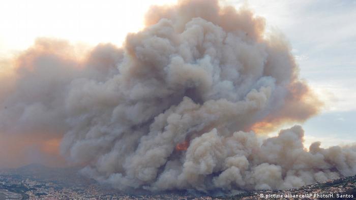 Incêndio em Portugal: fogo chega à capital Funchal