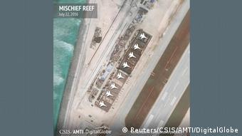 Südchinesisches Meer Mischief Reef Landebahn (Reuters/CSIS/AMTI/DigitalGlobe)