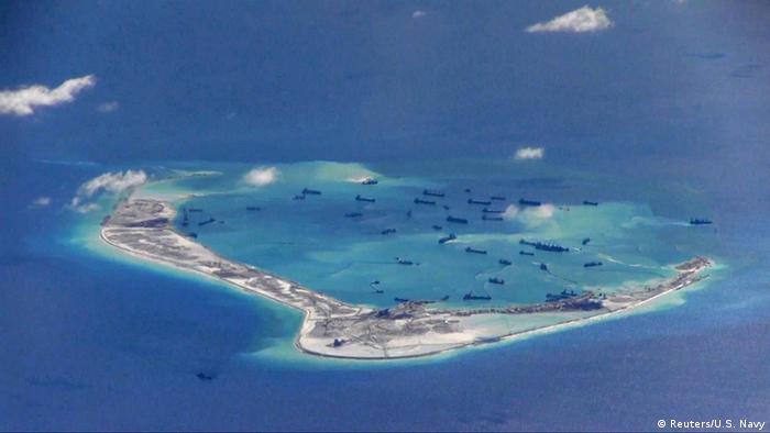 Südchinesisches Meer Insel Mischief Reef (Reuters/U.S. Navy)