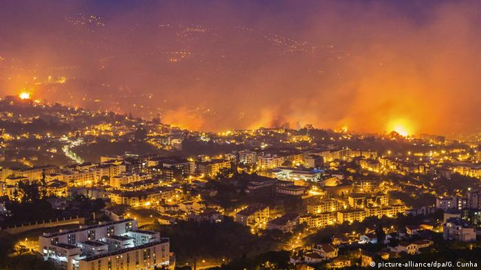 June fires in Madeira in Portugal