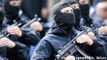 Italien Anti-Terror-Einheit GIS Militärparade