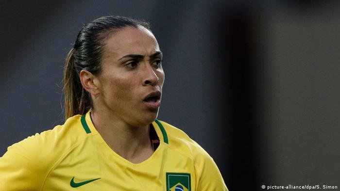 Jogadora brasileira Marta