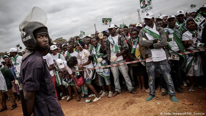 Anhänger von Präsident Lungu bei einer Wahlveranstaltung in Sambia (Foto: AFP/Getty Images)