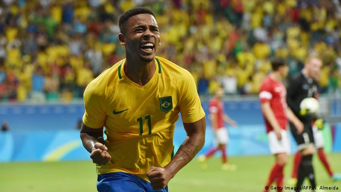 Gabriel Jesus at the 2016 Rio Olympics