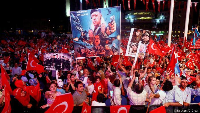 Demonstration für Recep Tayyip Erdogan Türkei