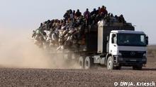 10.08.2016 Jeden Montag macht sich in Agadez ein Konvoi auf den Weg nach Libyen (Niger); Copyright: DW/A. Kriesch