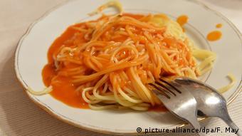 Deutschland Spaghetti auf einem Teller (picture-alliance/dpa/F. May)