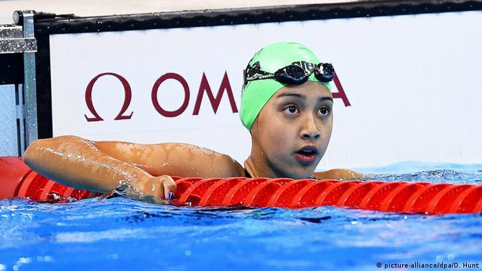 Brasilien - Olympia - jüngste Olympionikin Gaurika Singh (picture-alliance/dpa/D. Hunt)