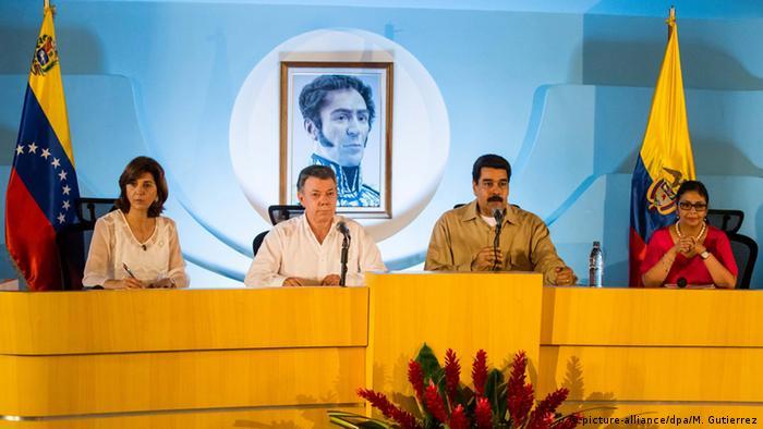 Treffen der Präsidenten von Venezuela und Kolumbien