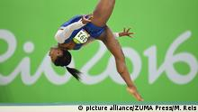 August 11, 2016*** August 11, 2016 - Rio De Janeiro, BRA - U.S. gymnast Simone Biles competes in the floor exercise in the women's All-Around Individual at the Summer Olympics in Rio de Janeiro, Brazil, on Thursday, Aug. 11, 2016. Biles won the gold medal in the event picture alliance/ZUMA Press/M. Reis