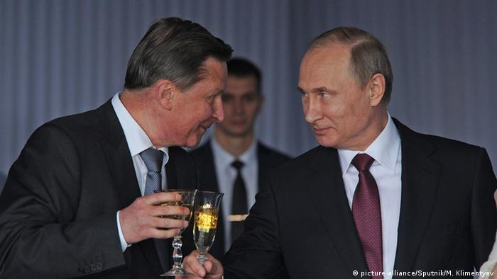 Sergei Iwanov and Vladimir Putin