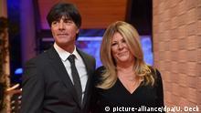 Fußball-Bundestrainer Joachim Löw und Ehefrau Daniela