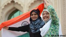 Picture-1 Title- Tricolor Two Indian Girls are with the their national flag at Lucknow (Place) Uttar Pradesh on (Date) 11-08-2016 Keywords : Independence day, India, sanitation, Lucknow. Copyright: DW/S. Waheed