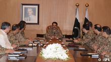 +++ACHTUNG: Pressebild nur für die aktuelle, themengebundene Berichterstattung+++ 12.08.2016 Pakistans Army chief Gen. Rahel Shareef high level Meeting (Rawalpindi, Pakistan); Copyright: ISPR