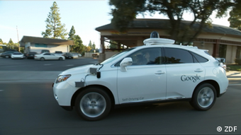 Google's self-driven car is controlled solely by cameras and sensors – there's no steering wheel at all!
