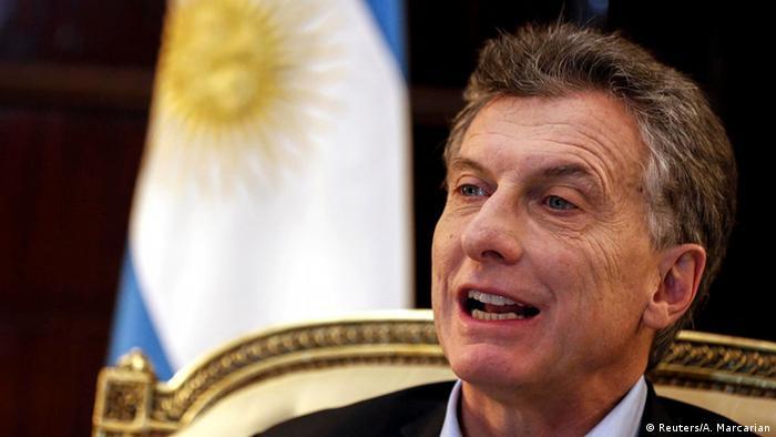 Argentinien Präsident Mauricio Macri (Reuters/A. Marcarian)
