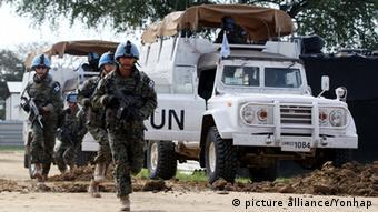 Südsudan Blauhelmsoldaten