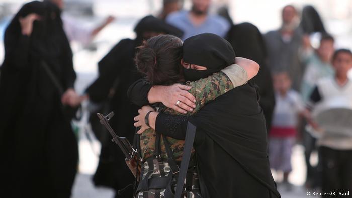 Syrien Manbij Zivilisten
