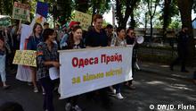 Gay Pride in Odessa, 13.08. Copyright: DW/D. Florin via Andrey Kobyakov, DW Russisch