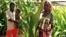 Die 36-jährige Marietta Lorenzo ist stolze Besitzerin von 600 zur Zeit noch nicht einmal zwei Meter hohen Kokosnuss-Bäumchen (Bild vom 20.12.1999), die in wenigen Jahren Ertrag abwerfen. Die Deutsche Welthungerhilfe hilft in Mosambik, bis heute einem der weltweit ärmsten Länder, beim Anbau von Kokosnussbäumen in der Region von Vilanculos nördlich von Maputo. dpa (Zu dpa Korr.-Bericht Entwicklungshilfe mit Marktprinzipen vom 30.12.1999)