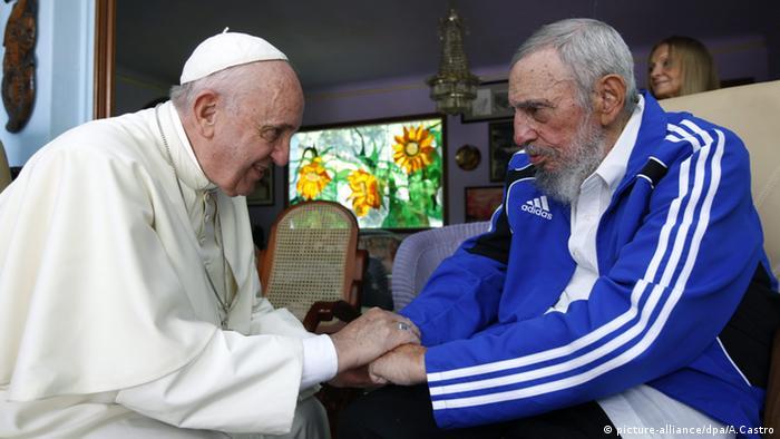 Фидель Кастро и Папа римский