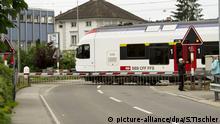 Personenzug Reiden Schweiz Zug Bahnübergang