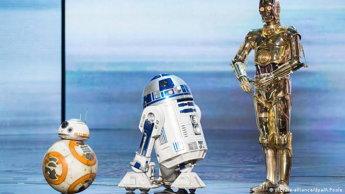 BB-8, R2D2 und C3PO (picture-alliance/dpa/A.Poole)