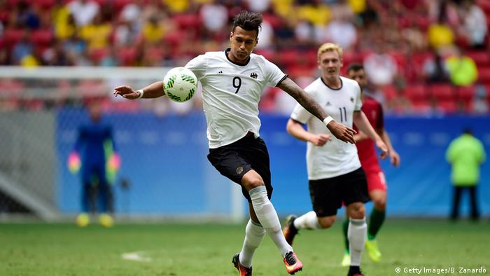 Davie Selke played upfront when Germany won Olympic silver in 2016 (Getty Images/B. Zanardo)