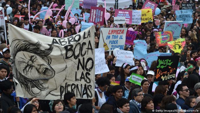 Peru Demonstration Ni una menos in Lima