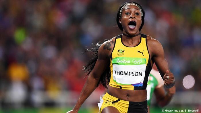 Rio Olympischen Spiele 2016 13 08 - 100 Meter Frauen Elaine Thompson Gold