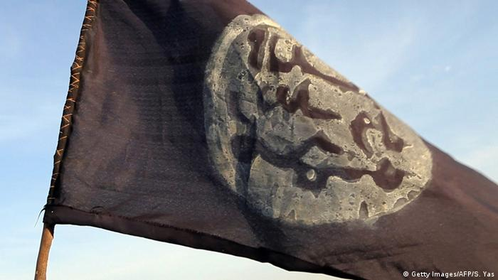 Symbolbild Flagge Boko Haram (Getty Images/AFP/S. Yas)