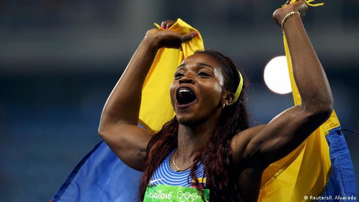 Rio Momente 14 08 Leichtathletik Dreisprung Frauen - Finale Caterine Ibarguen