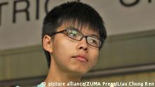 China Studentenaktivist Joshua Wong in Hongkong