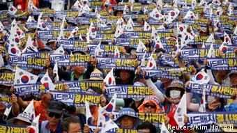 Südkorea Seoungju Protest gegen geplantes Raketensystem THAAD