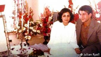 حمید منتظری زندانی اعدامشده در سال ۶۷ و همسرش مهین فهیمی. عکس از فیسبوک امید منتظری